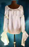 white long sleeved pirate blouse, wench top